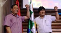 Arce y Morales, en un foto de archivo, cuando ambos podían estar en su país.