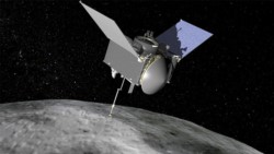 Comparación del tamaño del asteroide Bennu.