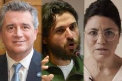 El ex ministro de Macri y ex titular de la Sociedad Rural, Juan Grabois y Dolores Etchevehere.