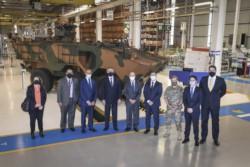 Rossi, durante una visita a la fábrica de camiones IVECO, donde se construye el blindado brasileño Guaraní 6x6, en el estado de Minas Gerais.