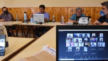 Compromiso virtual. Los sindicalistas exigieron más compromiso de los representantes chubutenses.