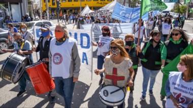 El sentir de lucha y la presencia en las calles volvió a quedar demostrado por los trabajadores estatales.