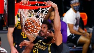 Apoyados en Anthony Davis y LeBron James, Los Ángeles superó por segunda noche a un herido Heat de Miami.