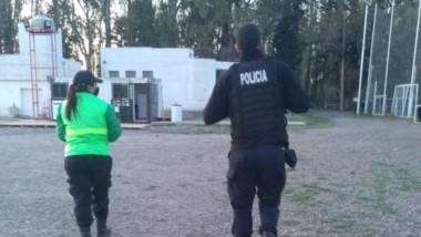 """Personal policial se apersonó el sábado en el predio del """"Globo""""."""