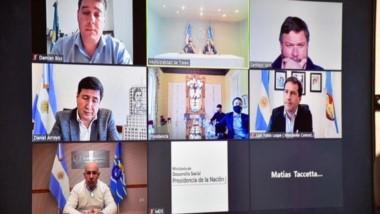 Del Zoom con Arroyo participaron Maderna, Sastre, Luque, Ongarato, Biss y el vicejefe de asesores, Leunda.