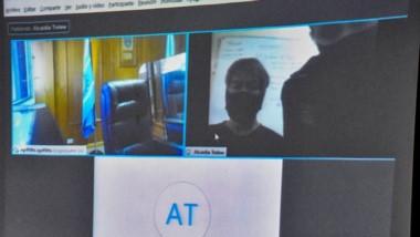 Oscar Romero habló por videoconferencia desde la Alcaidía local.