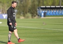 Leo se reencontró con sus compañeros de la Selección.