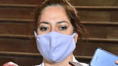 """Preocupada. González aclaró que la carpa fuera del Hospital no es un """"centro de hisopado"""" para Trelew."""