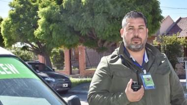 Cristian Peña, el policía y Técnico en Seguridad e Higiene que está al frente del área Seguridad en Trelew.