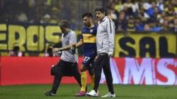 Salvio sufrió un desgarro y se perdería el duelo de ida ante Inter de Porto Alegre por la Copa Libertadores.