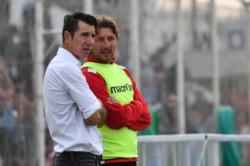 Esmerado junto al Gringo Heinze en aquel recordado 0-0 entre Brown y Argentinos, a la postre campeón, en el Conti.