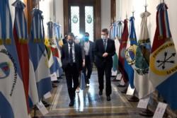 Los misioneros visitaron el viernes la Cámara de Diputados por lo que Sergio Massa y Sergio Chodos están en aislamiento provisorio.