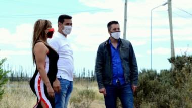 Lorena Alcalá, Gustavo Flores y Sebastián De la Vallina, recorrieron el terreno al que buscan darle  vida.