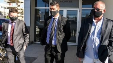 Los fiscales Daniel Báez y Jorge Bugueño informando sobre los avances en la investigación preliminar.
