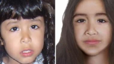 Sofía Herrera, cuando desapareció, y en una imagen actualizada.