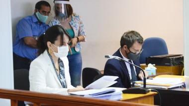 Federico Ruffa junto a la fiscal Griselda Encinas. Pide 25 años a Vargas.