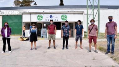 Representantes de la mutual de Puerto Madryn visitaron la Feria Trelew Primero.