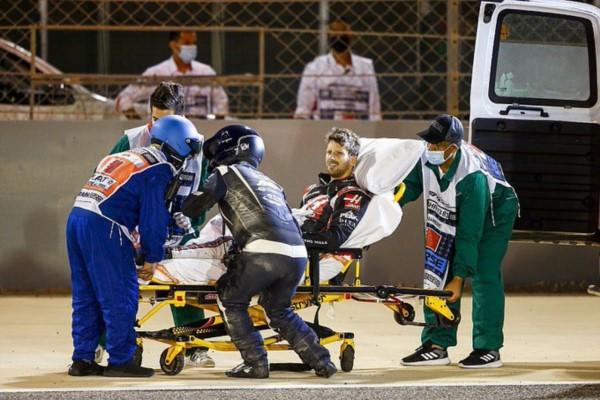Desde 1989 no había fuego en la F1. La seguridad y la tecnológia salvaron a Grosjean. La seguridad de hoy, costó decenas de vidas antes.