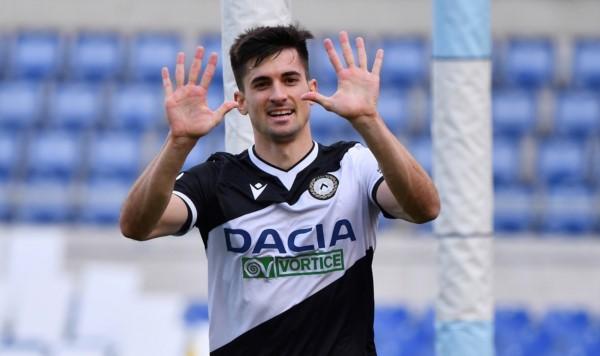 Nacho Pussetto se mandó un jugadón, combino con Rodrigo de Paul y marcó el 2-0 de Udinese en Roma.