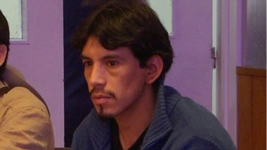 Carlos Antilef. Ahora en prisión.