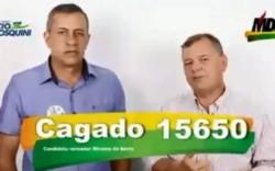 En el video, Cagado (izquierda) permaneció callado y con expresión apática.