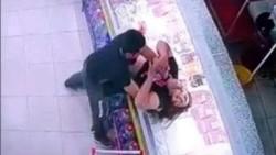 El agresor estaba fuera de control, la golpeó con un casco y hasta la tomó del cuello y trató de ahorcarla.