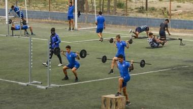 Guillermo Brown tuvo ayer una nueva jornada de entrenamientos.
