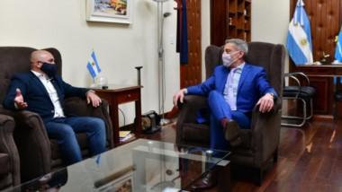 El gobernador Arcioni recibió esta semana al intendente Gustavo Sastre.