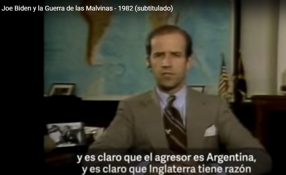 """En 1982, Joe Biden apoyó la posición Inglesa en Malvinas: """"Es claro que el agresor es Argentina"""""""