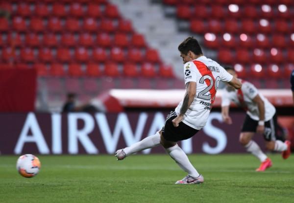 Gonzalo Montiel rompió con la mala racha de penales errados en River.