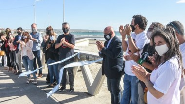 Gustavo Sastre participó del acto de ayer, celebrado en la costa.