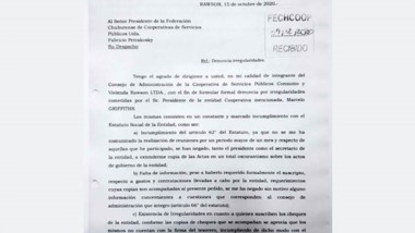 Presentación. El reclamo que recibieron en la Federación chubutense.