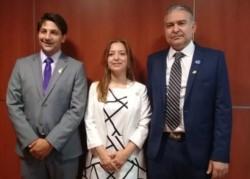 López, Aguilera y Pagliaroni, hace un año cuando asumieron y era todo sonrisas.