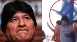 Una tensa reunión partidaria este lunes terminó en un sillazo contra el ex presidente de Bolivia Evo Morales.