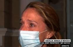 Cecilia Angulo Bocco, se largó a llorar en plena entrevista al confirmar el fallecimiento.