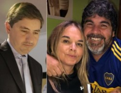 Guillermo Corneo, Leila Lloyd Jones y su marido, Gustavo Cardoso.