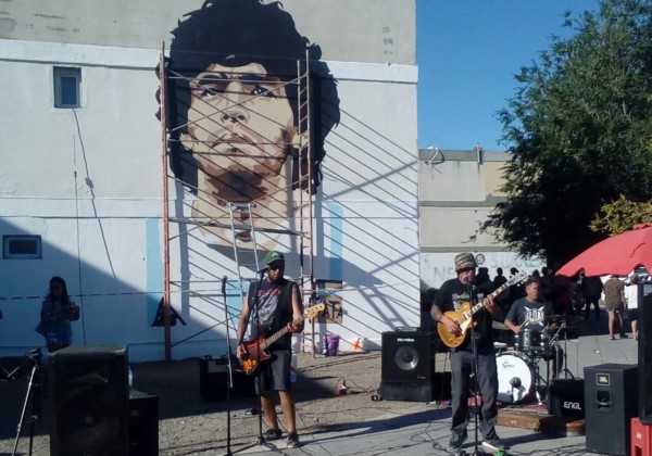La banda Trece Rock de la capital, tuvo su lugar.
