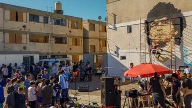El barrio 2 de Abril recibió a devotos de Diego de varias ciudades y localidades de la provincia de Chubut.