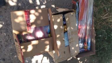 El local comercial tenía acopiados 20 kilos de diferentes elementos de pirotecnia prestos para ser vendidos.