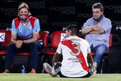Angileri está desgarrado: se pierde el Superclásico y la serie ante Palmeiras.