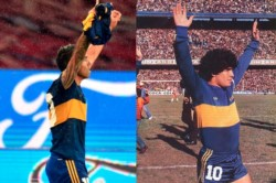 El Apache confirmó que la camiseta que usó fue la original que Diego había lucido en uno de los partidos más recordados de su primer paso por Boca.