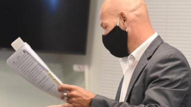 Investigador. Rodríguez durante la audiencia de ayer en la capital.