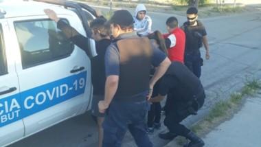 El individuo fue llevado a la dependencia policial luego de la amenaza.