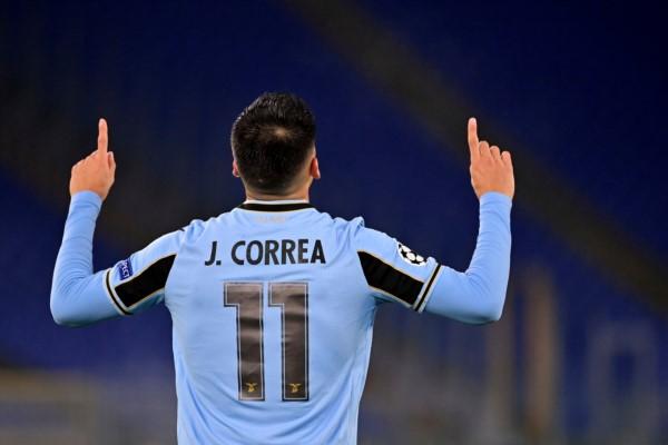 Correa colaboró con un gol en la clasificación de Lazio.
