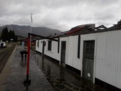 El museo de La Trochita quedó sin techo