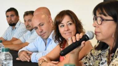 Epigrafe Cecilia Torrejón estuvo presente en el lanzamiento que realizó  Gustavo Sastre.