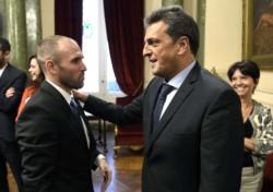 Guzmán fue recibido por el presidente de la Cámara baja, Sergio Tomás Massa.