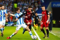 El conjunto de Anoeta se impuso por 2-1 sobre el equipo de la Segunda División en el partido de ida.