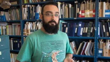 """El investigador Mauricio Cerroni, del MACN y del CONICET, particpó  del hallazgo del  """"Reptil Trueno""""."""