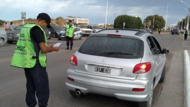 Los controles se efectuaron en las calles madrynenses y terminales.
